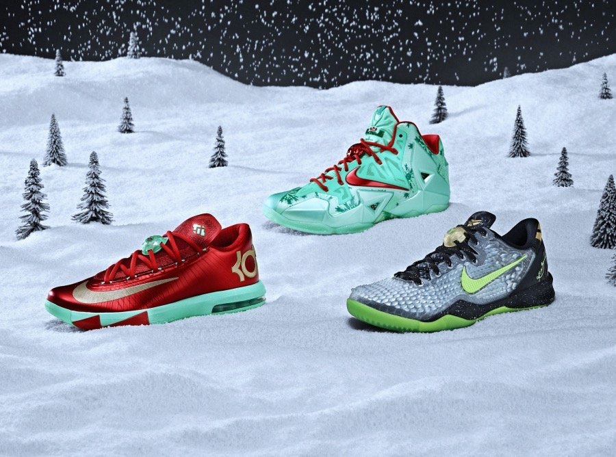 Clockwise from left: KD 6, LeBron 11, Kobe 8